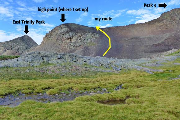 high point where I took photos